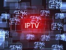 Concetto dello schermo di IPTV Fotografia Stock Libera da Diritti