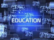 Concetto dello schermo di istruzione Immagini Stock