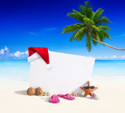 Concetto dello spazio della copia dell'esposizione della spiaggia di paradiso fotografia stock libera da diritti