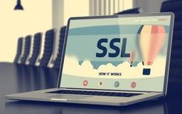 Concetto dello SSL sullo schermo del computer portatile 3d Fotografia Stock