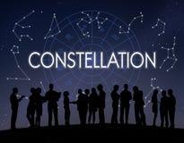 Concetto dello zodiaco di predizione dell'oroscopo di astronomia della costellazione fotografia stock libera da diritti