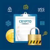Concetto dettagliato realistico di valuta di 3d Bitcoin Vettore Fotografia Stock
