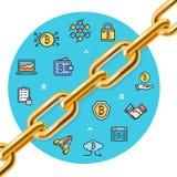 Concetto dettagliato realistico di valuta di 3d Bitcoin Vettore Fotografie Stock Libere da Diritti