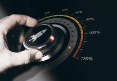 Concetto di accelerazione fotografia stock