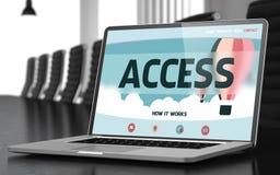 Concetto di Access sullo schermo del computer portatile 3d Fotografie Stock