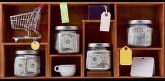 Concetto di accumulazione dei soldi Immagini Stock