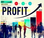 Concetto di accumulazione dei soldi di analisi dei dati di finanza di profitto Immagine Stock Libera da Diritti