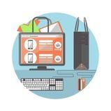 Concetto di acquisto del Internet Immagini Stock Libere da Diritti