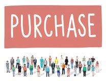 Concetto di acquisto di acquisto di vendita al dettaglio di vendita dell'acquisto Immagine Stock