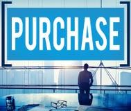 Concetto di acquisto di acquisto di vendita al dettaglio di vendita dell'acquisto Immagini Stock
