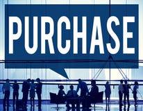 Concetto di acquisto di acquisto di vendita al dettaglio di vendita dell'acquisto Fotografia Stock Libera da Diritti