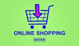 Concetto di acquisto in linea Fotografie Stock Libere da Diritti