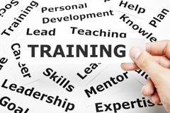 Concetto di addestramento Immagini Stock