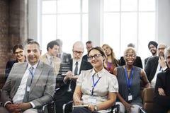 Concetto di addestramento del pubblico di conferenza di seminario di riunione fotografia stock