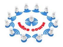 Concetto di addestramento online di Internet Fotografia Stock Libera da Diritti