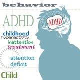 Concetto di ADHD Fotografia Stock Libera da Diritti