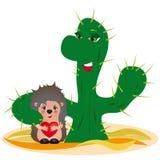 Concetto di adozione - illustrazione divertente originale Immagini Stock