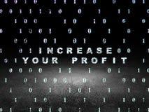 Concetto di affari: Aumenti il vostro profitto in lerciume Immagine Stock Libera da Diritti