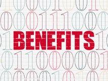 Concetto di affari: Benefici sul fondo della parete Immagine Stock