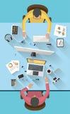 Concetto di affari - concetto del lavoro - progettazione piana Fotografia Stock Libera da Diritti