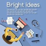 Concetto di affari - concetto del lavoro - progettazione piana Fotografia Stock