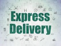 Concetto di affari: Consegna precisa su digitale Fotografie Stock