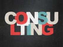 Concetto di affari: Consultandosi sul consiglio scolastico Fotografia Stock