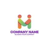 Concetto di affari del modello di logo di associazione, emblema, icona, logoty Immagini Stock