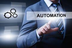 Concetto di affari del sistema di produzione di tecnologia software di automazione fotografia stock libera da diritti