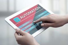 Concetto di affari del sistema di produzione di tecnologia software di automazione immagine stock libera da diritti
