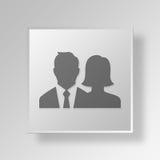 concetto di affari dell'icona del gruppo di affari 3D Illustrazione di Stock