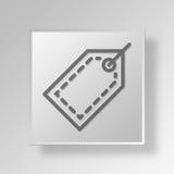 concetto di affari dell'icona del prezzo da pagare 3D Fotografie Stock