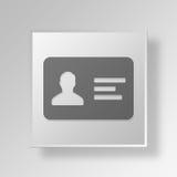 concetto di affari dell'icona della carta di identificazione 3D Immagine Stock