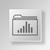 concetto di affari dell'icona della cartella 3D Fotografie Stock Libere da Diritti