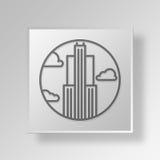 concetto di affari dell'icona della plaza di 3D 30 Rockefeller Fotografia Stock