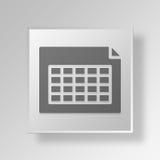 concetto di affari dell'icona della Tabella 3D Fotografia Stock Libera da Diritti