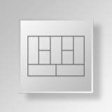 concetto di affari dell'icona di Canvas del modello aziendale 3D Fotografia Stock