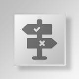 concetto di affari dell'icona di decisione 3D Fotografia Stock