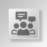 concetto di affari dell'icona di discussione di gruppo 3D Fotografia Stock Libera da Diritti