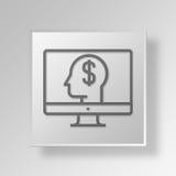 concetto di affari dell'icona di idea di commercio elettronico 3D Illustrazione Vettoriale