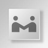 concetto di affari dell'icona di riunione 3D Royalty Illustrazione gratis