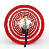 Concetto di affari dell'obiettivo Fotografia Stock