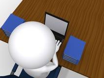 concetto di affari dell'uomo 3d illustrazione di stock
