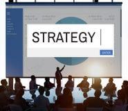 Concetto di affari della soluzione di Strategy Analytics Immagini Stock Libere da Diritti