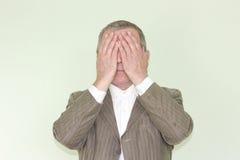 Concetto di affari di cecità ignoranza fotografie stock libere da diritti