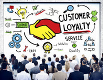 Concetto di affari di fiducia di cura di sostegno di servizio di lealtà del cliente Fotografia Stock Libera da Diritti
