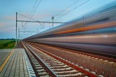 Concetto di affari di industria di viaggio e del trasporto della ferrovia Fotografie Stock