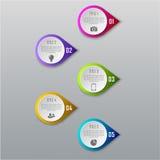 Concetto di affari di Infographic con 5 opzioni, parti, punti Immagine Stock Libera da Diritti
