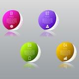 Concetto di affari di Infographic con 4 opzioni, parti, punti Fotografia Stock