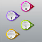 Concetto di affari di Infographic con 4 opzioni, parti, punti Fotografia Stock Libera da Diritti